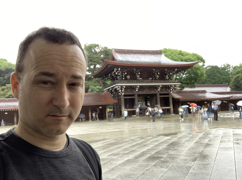 Rick Lupert at Meiji Shrine